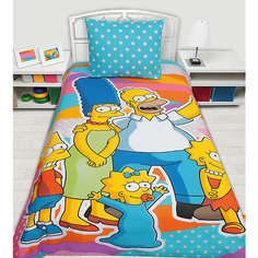 """Постельное белье детское """"Семейка Симпсоны"""", 1,5-спальный (наволочка 50*70 см) Mona Liza"""
