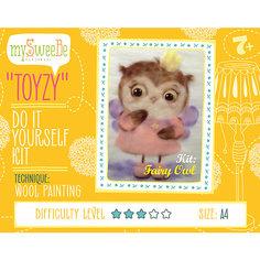 "Набор для картин шерстью ""Сова-фея"" Toyzy"