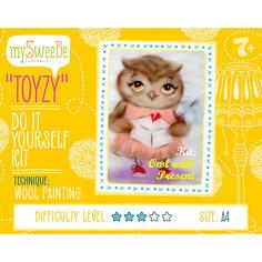 """Набор для картин шерстью """"Сова с подарком"""" Toyzy"""
