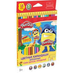 Цветные карандаши 18 цветов, Play-Doh Академия групп