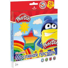 Масляная пастель (24 цвета) с раскрасками (2 шт), Play-Doh Академия групп