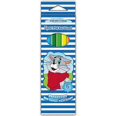 Трёхгранные цветные карандаши «Простоквашино», 12 цветов Росмэн