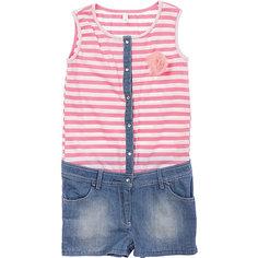 Полукомбинезон джинсовый для девочки Scool S`Cool