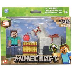 """Игровой набор """"Стив с лошадью"""", Minecraft Jazwares"""