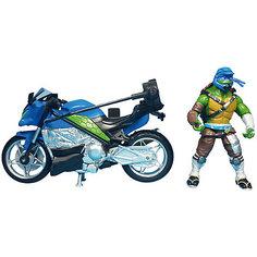 Мотоцикл с фигуркой Лео, Черепашки Ниндзя