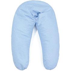 """Наволочка для подушки """"Аура"""" 190х37, La Armada, голубой в горох"""