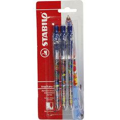 Ручка синяя, 3 шт. Stabilo