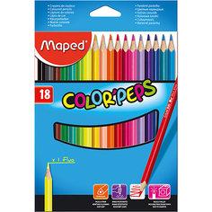 Набор цветных карандашей COLORPEPS, 18 цв. Maped