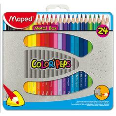 Набор цветных карандашей COLORPEPS, 24 цв. Maped