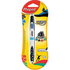 Шариковая ручка, 1 мм, 4 цв. Maped