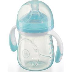 Бутылочка для кормления с антиколиковой соской, 180 мл, Happy Baby, голубой