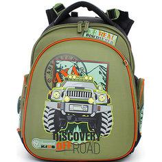 Ранец школьный Hummingbirdс мешком для обуви Discovery off road