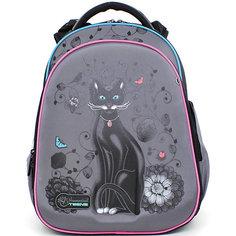 Ранец школьный Hummingbirdс мешком для обуви Черный кот