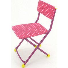"""Складной стул СТУ3 """"Горошек"""", Ника, розовый Nika"""