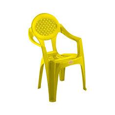 """Желтый стул """"Малыш"""" Полимербыт"""