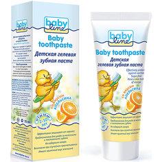 Детская гелевая зубная паста со вкусом апельсина, Babyline,75 мл
