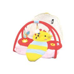 """Детский игровой коврик """"Пчелка"""" с мягкими игрушками на подвеске"""
