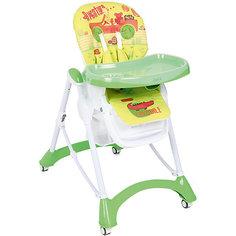Стульчик для кормления, Corol, зеленый/желтый САФАРИ