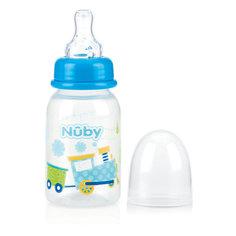 """Бутылочка с антиколиковой системой """"Машинка"""", 120 мл, Nuby, голубой"""
