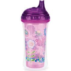 """Поильник """"Цветы"""", 270мл, Nuby, фиолетовый"""