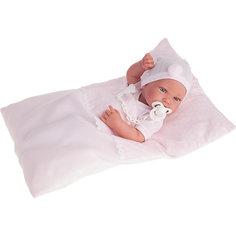 Кукла-младенец Пипа в розовом, 42 см, Munecas Antonio Juan