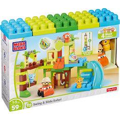 """Игровой набор - конструктор """"Приключения в джунглях"""", MEGA BLOKS Mattel"""