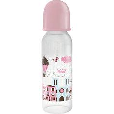 """Бутылочка с соской """"Я люблю"""" от 0 мес., 250 мл., LUBBY, розовый"""