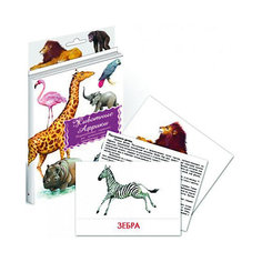 """Дидактические карточки """"Животные Африки"""" Маленький гений"""