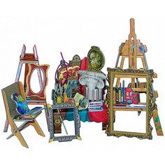 """Сборная модель """"Коллекционный набор мебели """"Мастерская художника"""" Умная Бумага"""