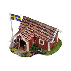 """Сборная модель """"Шведский домик"""" Умная Бумага"""