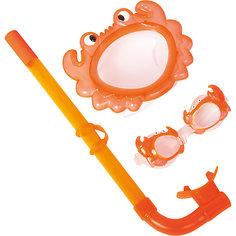 Набор для ныряния детский, морские животные, оранжевый, Bestway