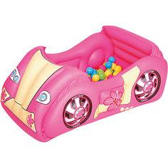 Игровой центр Машина с шариками, Bestway, розовый