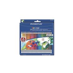 Цветные карандаши с ластиком NorisClub, 24 цв. Staedtler