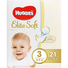 Подгузники Huggies Elite Soft 3, 5-9 кг, 21 шт.