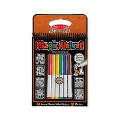 """Бархатные раскраски с маркерами """"Животные"""" Melissa & Doug"""