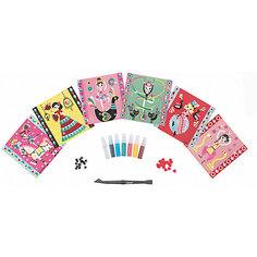 """Набор для творчества: посыпаем блестками """"Балерина"""", 6 карточек Janod"""