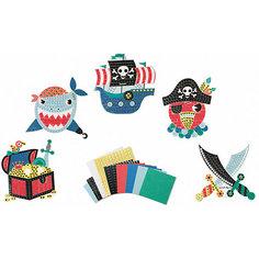 """Набор для творчества: мозайка """"Пираты"""", 5 карточек Janod"""