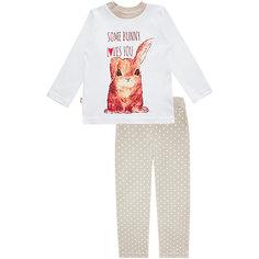 Пижама: футболка с длинным рукавом и штаны для девочки KotMarKot КОТМАРКОТ