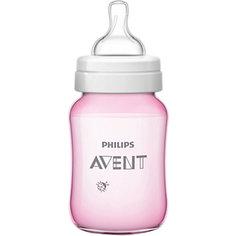 Бутылочка Classic+, 260 мл, 1 мес+, Philips Avent, розовый