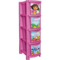 "Комод для детской комнаты ""Даша путешественница"" 245мм, Little Angel, розовый"