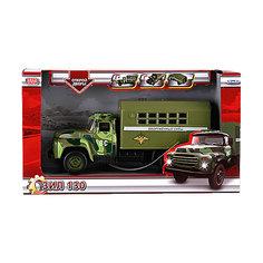 """Машина """"Зил 130: Вооруженные силы """", 20см, инерционная, со звуком и светом, Технопарк"""