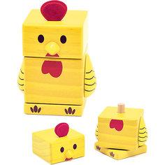 Пирамидка Цыпленок, Мир деревянных игрушек МДИ