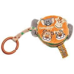 Мягкая книжка Жираф, слон, тигр, лев, Динглисар, Teddykompaniet