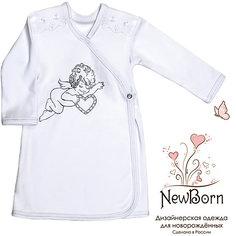 Крестильная рубашка с шитьем, р-р 80,  NewBorn, белый