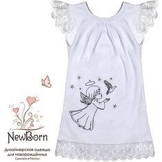 Крестильное платье, шитье, р-р 62, NewBorn, белый