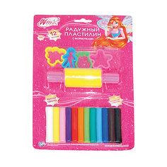 Пластилин с формочками, Winx Club, 12 цветов Играем вместе