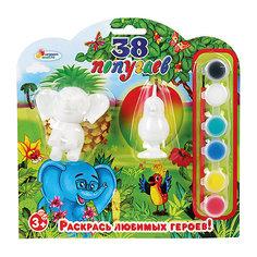 """Фигурки для раскрашивания """"Слон и попугай"""" Играем вместе"""