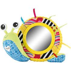 Мягкая игрушка Улитка Мишель с зеркальцем, свет, звук, Lamaze