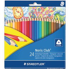 Карандаши  цветные Noris Club, 24 цв Staedtler