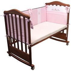 Борт в кроватку Прованс, Сонный гномик, розовый